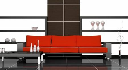 canapé moderne dans la salle