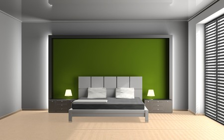 Modern interior of a bedroom room 3D Stock Photo - 8001660