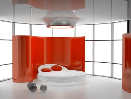Modern inter of a bedroom room 3D Stock Photo - 8100571
