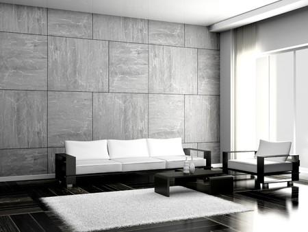 Modern Sofa im Zimmer  Standard-Bild - 8100575