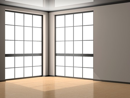 Light modern empty interior 3D Stock Photo