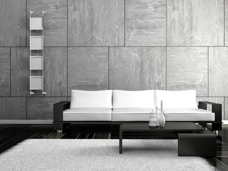 modern sofa  in the  room  photo