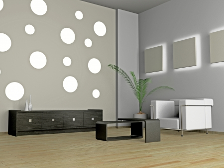 Living room 3D Stock Photo - 23000610