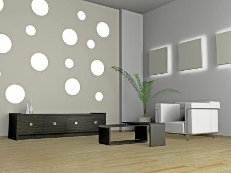 Living room 3D Stock Photo - 23000610
