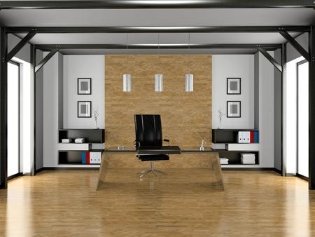 Interior of modern office 3D photo