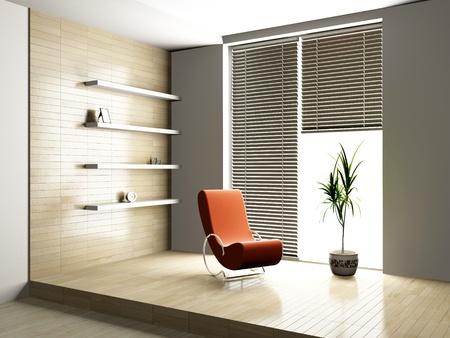 armchair in the room Standard-Bild