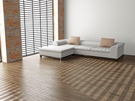 modern sofa  in the  room Stock Photo - 8580869