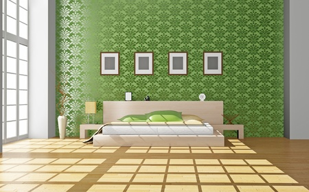 Modern inter of a bedroom room 3D Stock Photo - 8629537