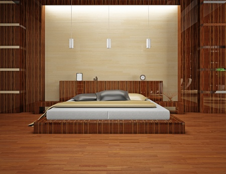 Modern interior of a bedroom room 3D Stock Photo - 8711997