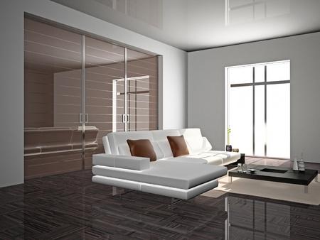 modern sofa  in the  room  Stock Photo
