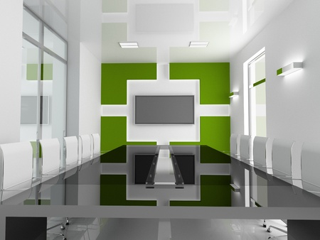 green office: Interior of modern office 3D