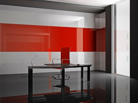 Interior of modern office 3D Stock Photo - 9449769