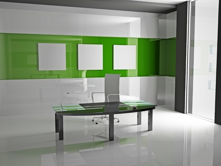 Inter of modern office 3D Stock Photo - 9449771
