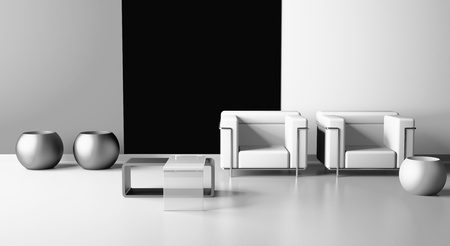 modern armchair  in the  room