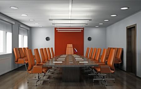 Intérieur de bureau moderne 3D