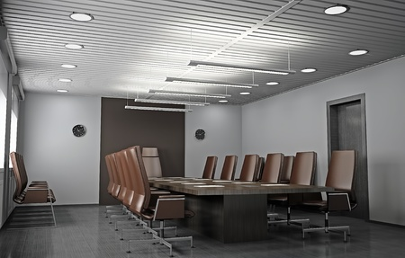 CONFERENCE TABLE: Interior of modern office 3D