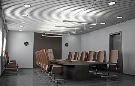seminar room: Interior of modern office 3D