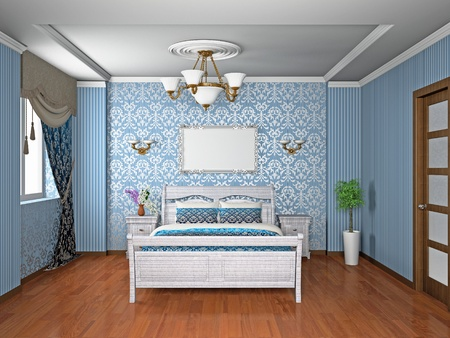 Modern interior of a bedroom room 3D Stock Photo - 10313268