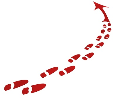 traces of the shoe (3d) Standard-Bild