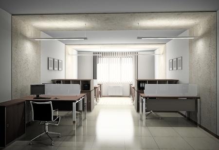 Inter of modern office 3D Stock Photo - 10914018
