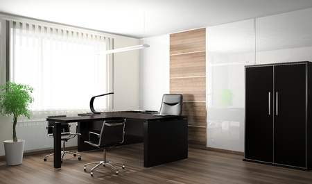office chairs: Interior of modern office 3D