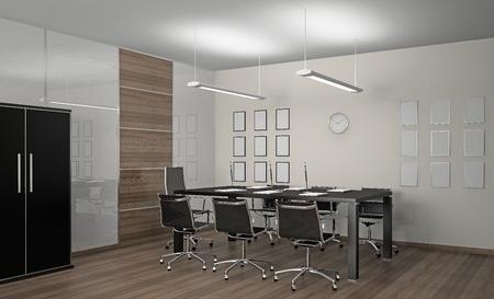 Innenansicht der modernen Büro-3D Standard-Bild - 11252902