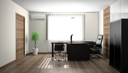 Interior of modern office 3D photo