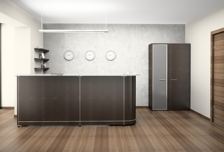 reception office: Modern reception at office 3D