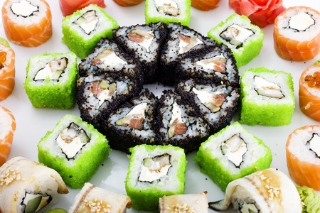 Photo of a rolled and sushi Stock Photo - 11999459