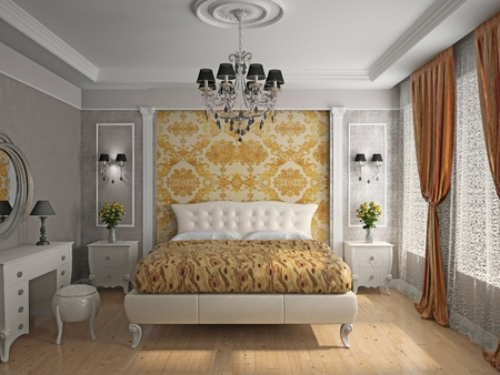 Modern inter of a bedroom room 3D Stock Photo - 12913171