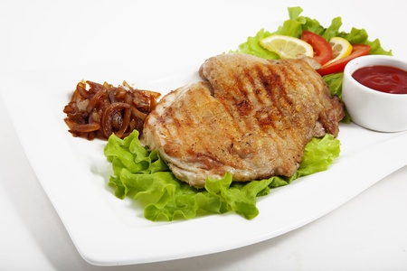 chiken: Photo of meat with vegetables Stock Photo