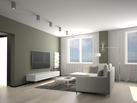 modern living room: Modern interior of a living room  3D