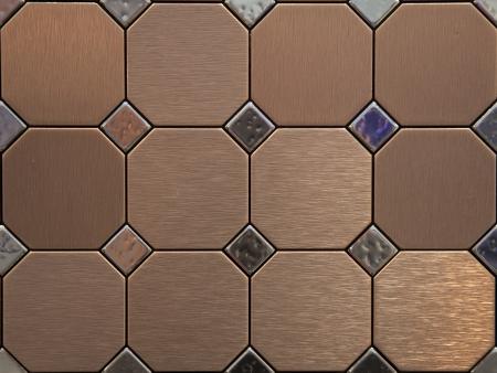 inlay: The actual texture of metal tiles