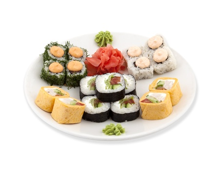 Photo of a rolled and sushi Stock Photo - 21195802