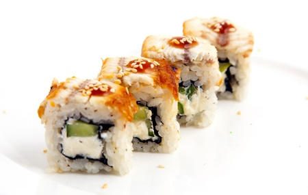 Photo of a rolled and sushi Stock Photo - 21195819