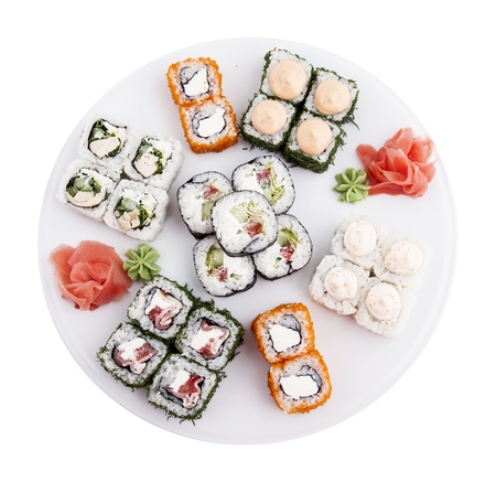 Photo of a rolled and sushi Stock Photo - 21195822