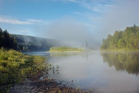 photo fog on a river photo Stock Photo - 22141524