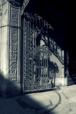 gate in the city Stock Photo - 22141535