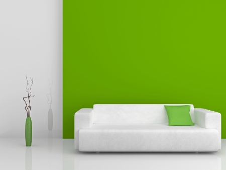 Image of a modern sofa 3D Stock Photo - 23008091
