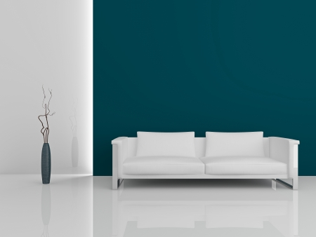 Image of a modern sofa 3D Stock Photo - 23008092