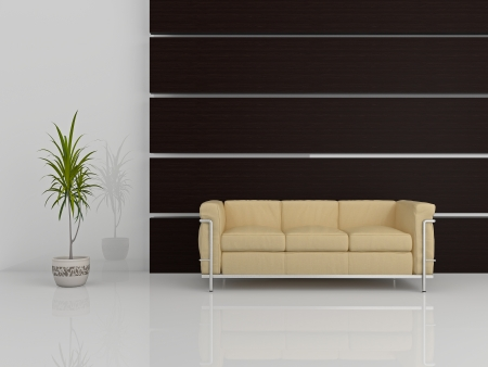 Image of a modern sofa 3D Stock Photo - 23008093