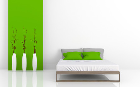 3d image of modern beds Stock Photo - 23015294