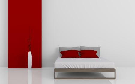 3d image of modern beds Stock Photo - 23015296