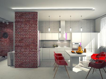 Interior of modern kitchen Фото со стока