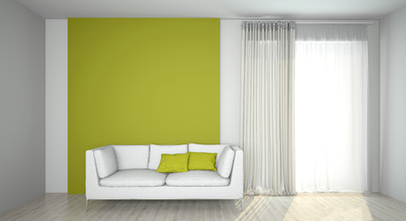 living room wall: Image couch in the room (3d)
