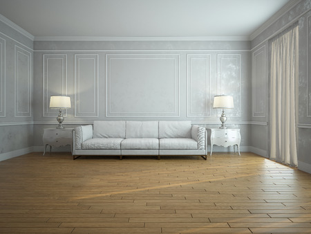 Image couch in the room (3d)