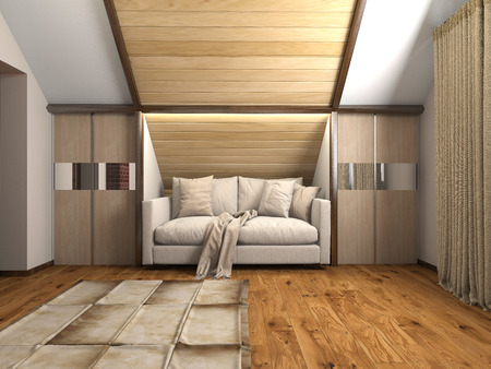 design interior: Image couch in the room (3d)