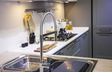 stainless steel kitchen: Picture the kitchen sink with decor