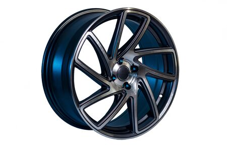 Round rim made of light alloy material for a car with radial spokes