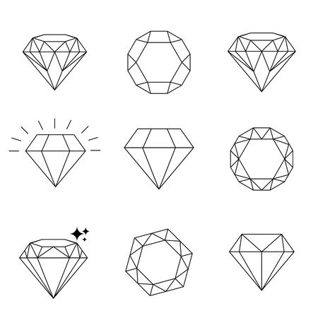 Diamond  icons set, design